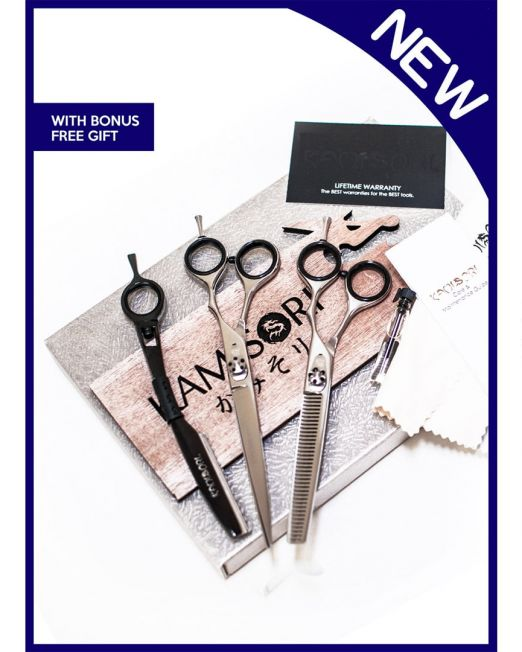 Picture of Kamisori Shears Level One Barber Haircutting Shears Kit